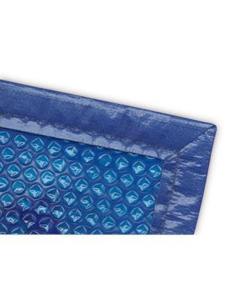 Ribete de refuerzo para cobertor solar térmico