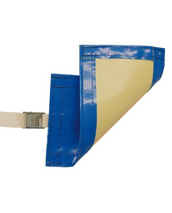 Cobertor de gran resistencia opaco azul/beige