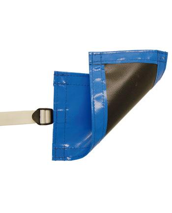 Cobertor de gran resistencia opaco azul/negro
