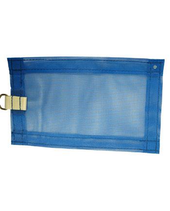 Cobertor de malla de poliéster azul