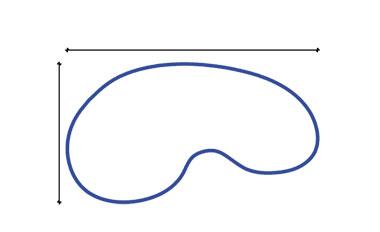 Medir cobertores con plantilla - piscina riñón