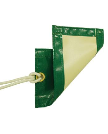 Cobertor de gran resistencia opaco verde/beige
